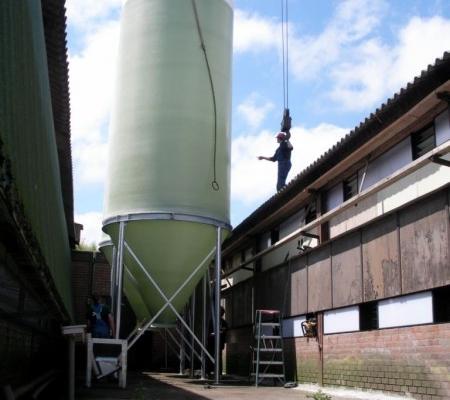 Silo installatie door Rijk van Dam